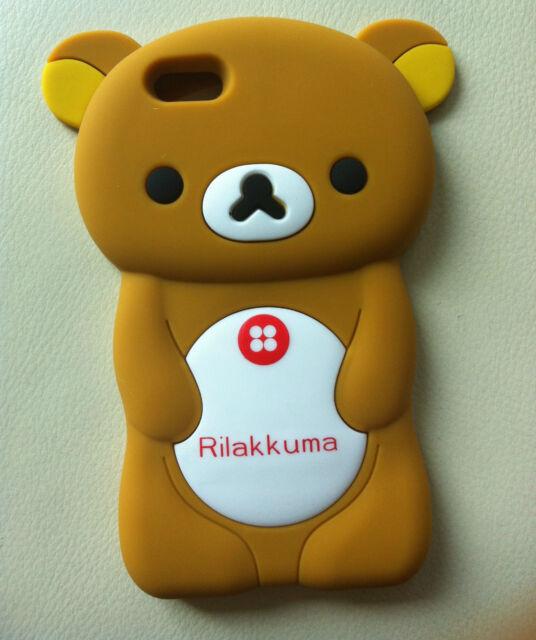 San-X Rilakkuma Bear 3D Soft Silicone iPhone 5 Case Skin (BROWN)