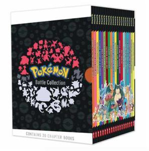 NEW Pokemon Battle Collection 20 Books Chapter Library Slipcase Kids Gift Set!