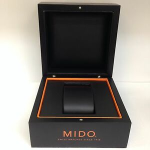 MIDO-Original-Hard-Case-Black-Watch-Box-Storage-Case-With-Outer-Box
