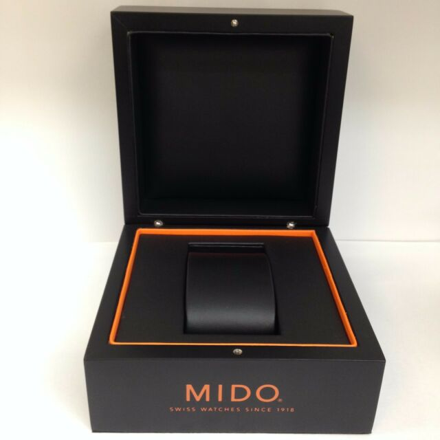 MIDO Original Hard Case Black Watch Box Storage Case With Outer Box