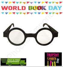 Kids Round Glasses Harry Potter Style Black Geek  Nerd Wizard Boy-BOOK WEEK
