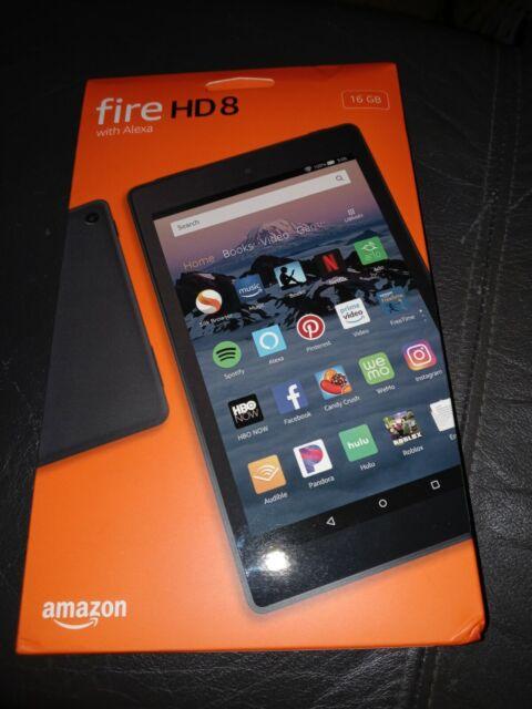 Brand New Amazon Fire HD 8 (8th Generation) 16 GB, Wi-Fi, 8 in, with Alexa.