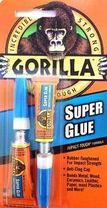 gorilla super glue tough bond 2 x3g tubes anti clog cap bonds metal wood ceramic ebay. Black Bedroom Furniture Sets. Home Design Ideas