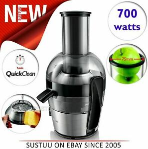 Details about Philips Viva Collection QuickClean Juicer 700W|Brushed Aluminium|XL Feeding Tube