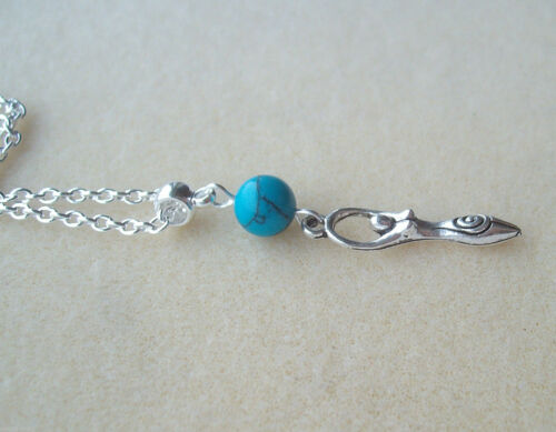 Psychic Protection Turquoise Earth Mother Goddess Charm Amulet Necklace