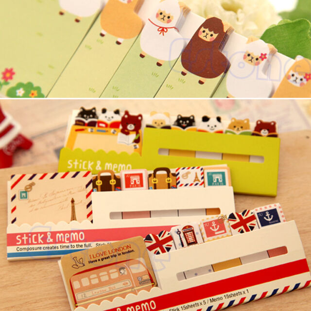 New Cute Funny Joy 90 Pages Sticker Post It Memo Marker Point Flags Sticky Notes