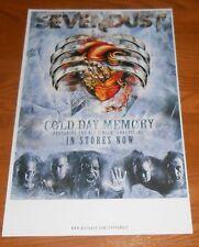 Sevendust Cold Day Memory Poster Original Tour Promo 17x11