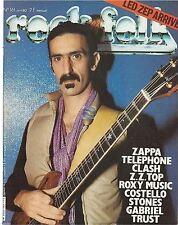 REVUE : Rock & Folk # 161 frank zappa telephone clash zz top trust peter gabriel