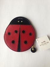 Coach XGRN Leather Lady Bug Coin Purse Multi 63330