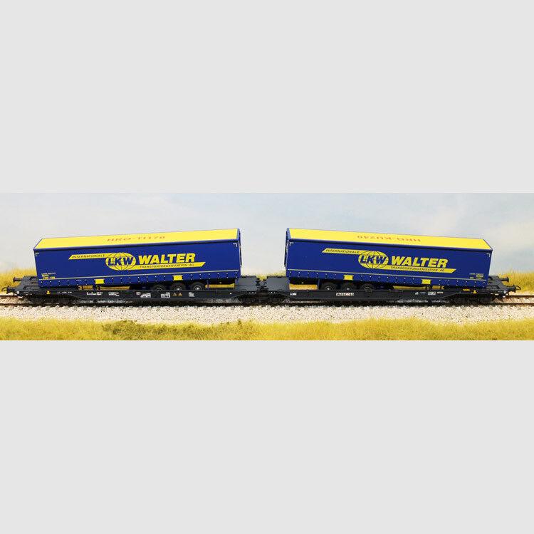 Carro doppio portacontainer LKW WALTER - Art. Roco 67414