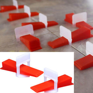 Reusable 800pcs Tile Leveling System Clips Wedges Wall Floor Tilling Spacers 1mm