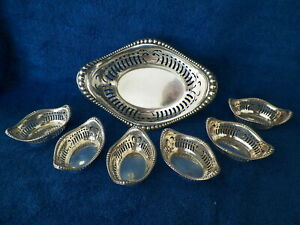 EXCELLENT GORHAM STERLING SILVER FOOTED RETICULATED NUT DISH