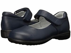 School Shoes LEATHER MaryJanes Navy