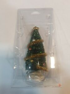 """Lemax Village Collection 6"""" Sparkling Green Christmas Tree #04493"""