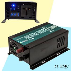 600W Peak Pure Sine Wave Inverter 24V 120V 300W DC to AC Power Inverter Solar