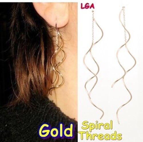 SILVER Ear Thread Drop Earrings Trendy Jewellery C FREE POST