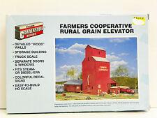 FARMERS CO-OP GRAIN ELEVATOR HO SCALE KIT NEW OLD STOCK