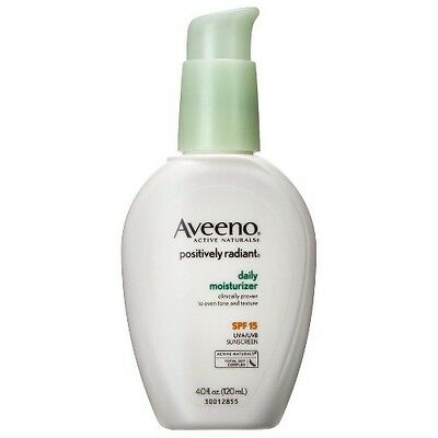 Aveeno Positively Radiant Daily Moisturizer with Broad Spectrum SPF 15- 4 Oz