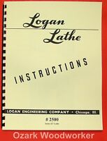 Logan 12 Lathe+turret/screw 2500 Instruction Manual 0452