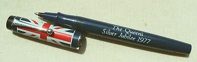 "PARKER "" BIG RED ""  BALLPEN   "" THE QUEEN'S SILVER JUBILEE 1977 """