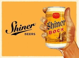 Image is loading Shiner-Bock-Beer-Can-Ad-Refrigerator-Tool-Box-