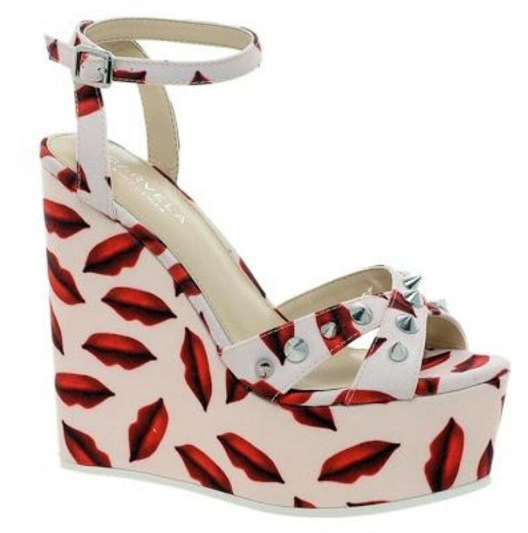 Carvela Gardinia Lips Print Wedge   UK 8 EU 41 JS10 85 SALEs