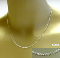 Silberkette, Erbskette, Halskette, Kette Silber 925, 40-90 cm / 1,8 mm