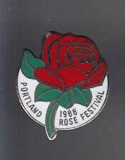 RARE PINS PIN'S .. NATURE FLEUR FLOWER ROSE FLORALIES FESTIVAL PORTLAND USA ~BN