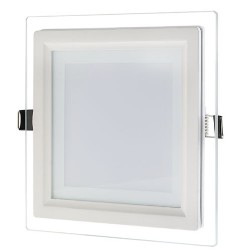 I LumoS GLASS LED RECESSED PANEL LIGHT 25mm ROUND /& SQUARE CEILING DOWN LIGHTS