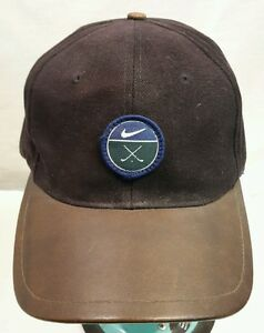 Image is loading Nike-Golf-Cap-Hat-Leather-Bill 53d2faf7568