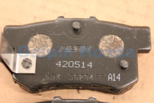 Genuine OEM Honda Accord Rear Brake Pad Set 1991-2007
