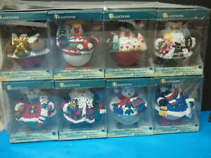 Set of 8 NEW IN BOX Traditions Collectible Glass Character ...