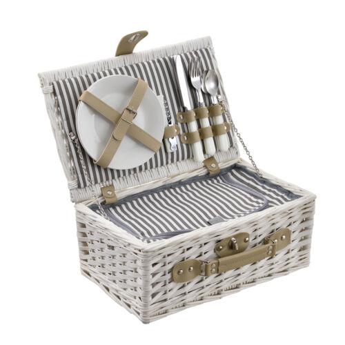 casa. pro ® cesta de picnic para 2 personas bolsa de refrigeración camping set de cesta cubiertos