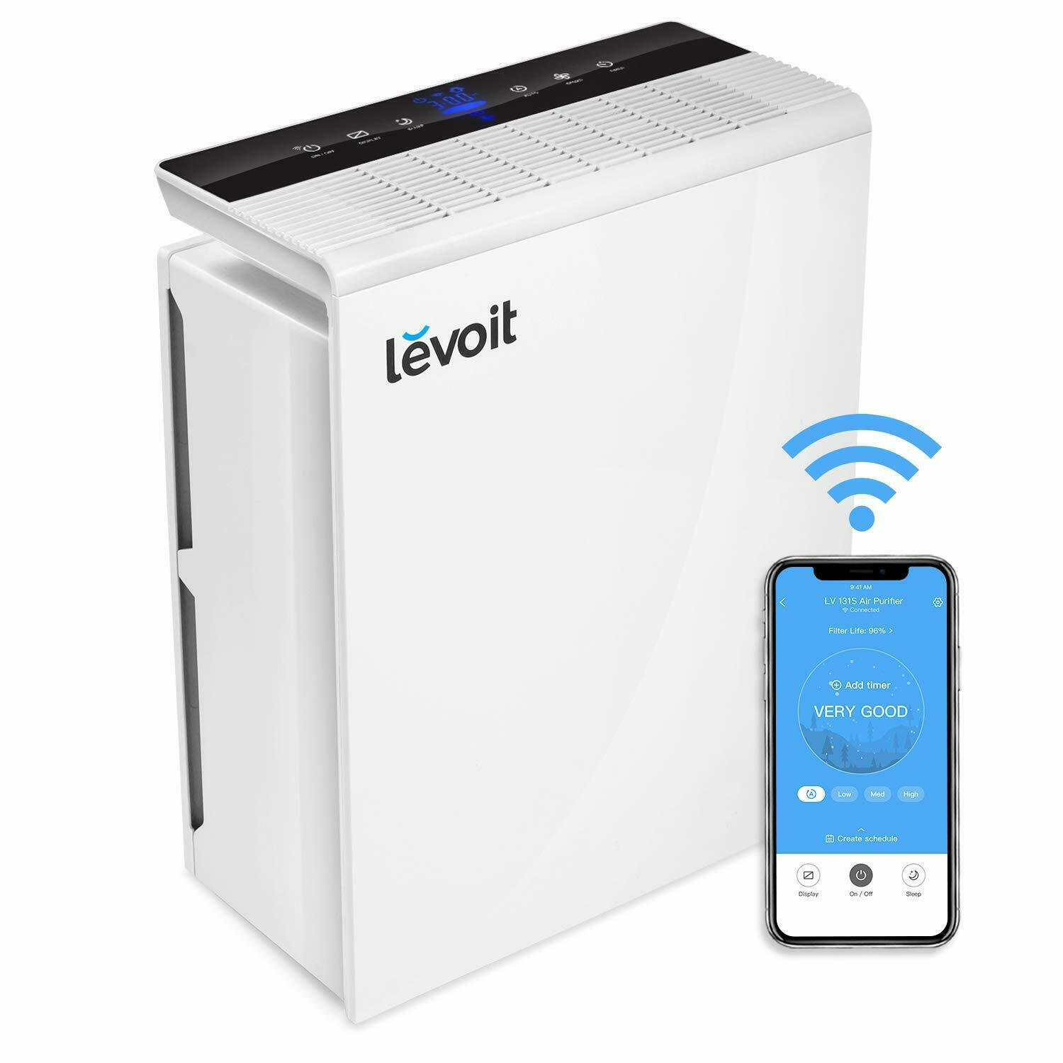 LEVOIT Purifier of Air WiFi Smart Filter HEPA up to 55 M ² Timer