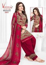 Unstitched Soft Leon Punjabi Suit Indian Pakistan Trendy Salwar Kameez Synthetic