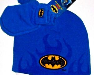 43b9f0cf20a DC Comics Boy s Toddler Batman Beanie Hat Mittens Cold Weather Set ...