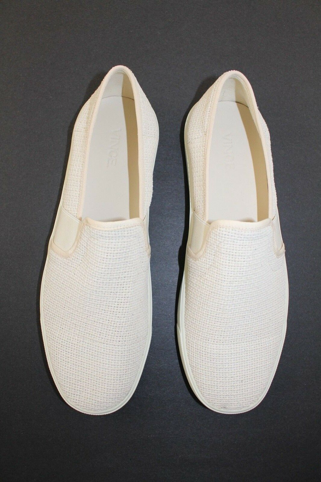 Vince Blair Slip On Sneakers sz US 9.5   EU 39.5 in cream