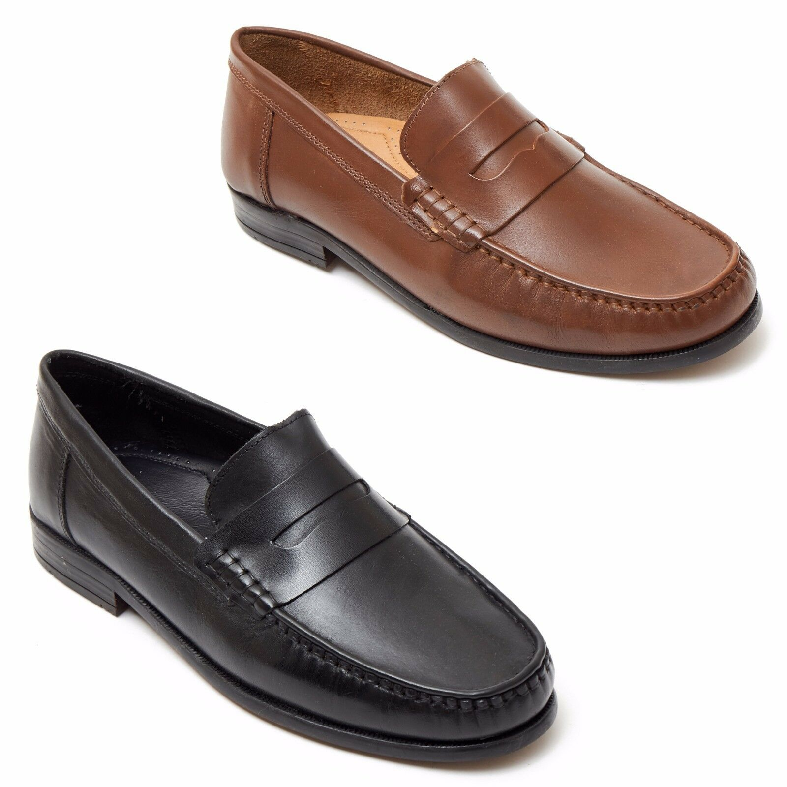 Men's Real Leather Slip on Moccasins shoes for Work Causal Formal styles