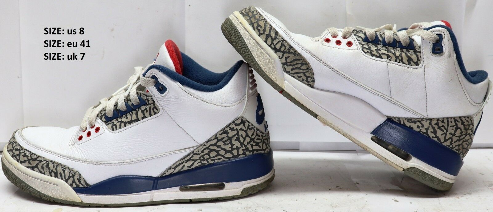 Nike Air Jordan 3 Retro III OG True bluee  2016 854262-106 Size 8 US