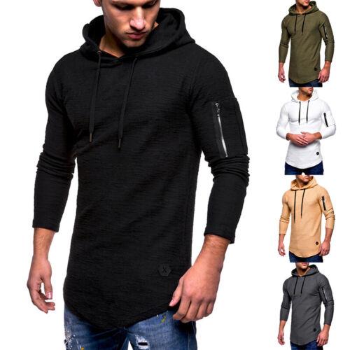 Men/'s Casual Slim Fit Hoodies Muscle Long Sleeve Sweatshirts T-shirt Tops Blouse