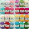 50g Pelote de coton fil à tricoter laine tricot crochet naturel 18 couleurs