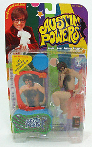 Collectible-1999-McFarlane-Austin-Danger-Powers-Movie-Figure-amp-Voice-Chip-Base