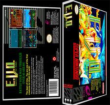 EVO Search for Eden E.V.O. Enix  - SNES Reproduction Art Case/Box No Game.