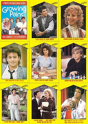 1988 Topps Growing Pains Complete Sticker Set 11 Sticker Cards Near Mint