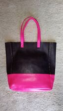 item 1 John Lewis Weekend Collection Hot Pink and Navy Leather Tote Bag 156e49a08