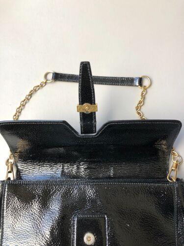 Black Clutch Yves To Bag Chain Saint Handbag Brass Converts Patent Leath Laurent zzEwHqrv