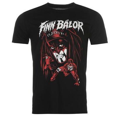 MENS OFFICIAL WWE SUPERSTAR BLACK RED SHORT SLEEVE T SHIRT CREW NECK FINN BALOR