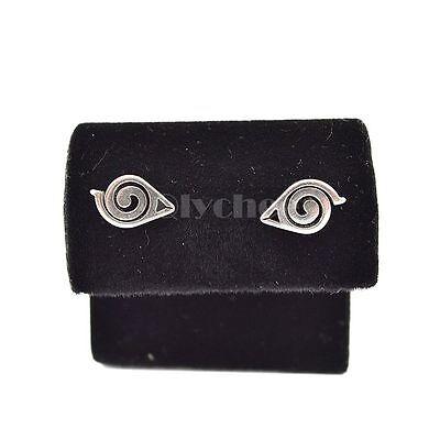 HOT Anime Naruto Gaara Symbol Earrings Silver Ear Stud Unisex Cosplay Jewelry