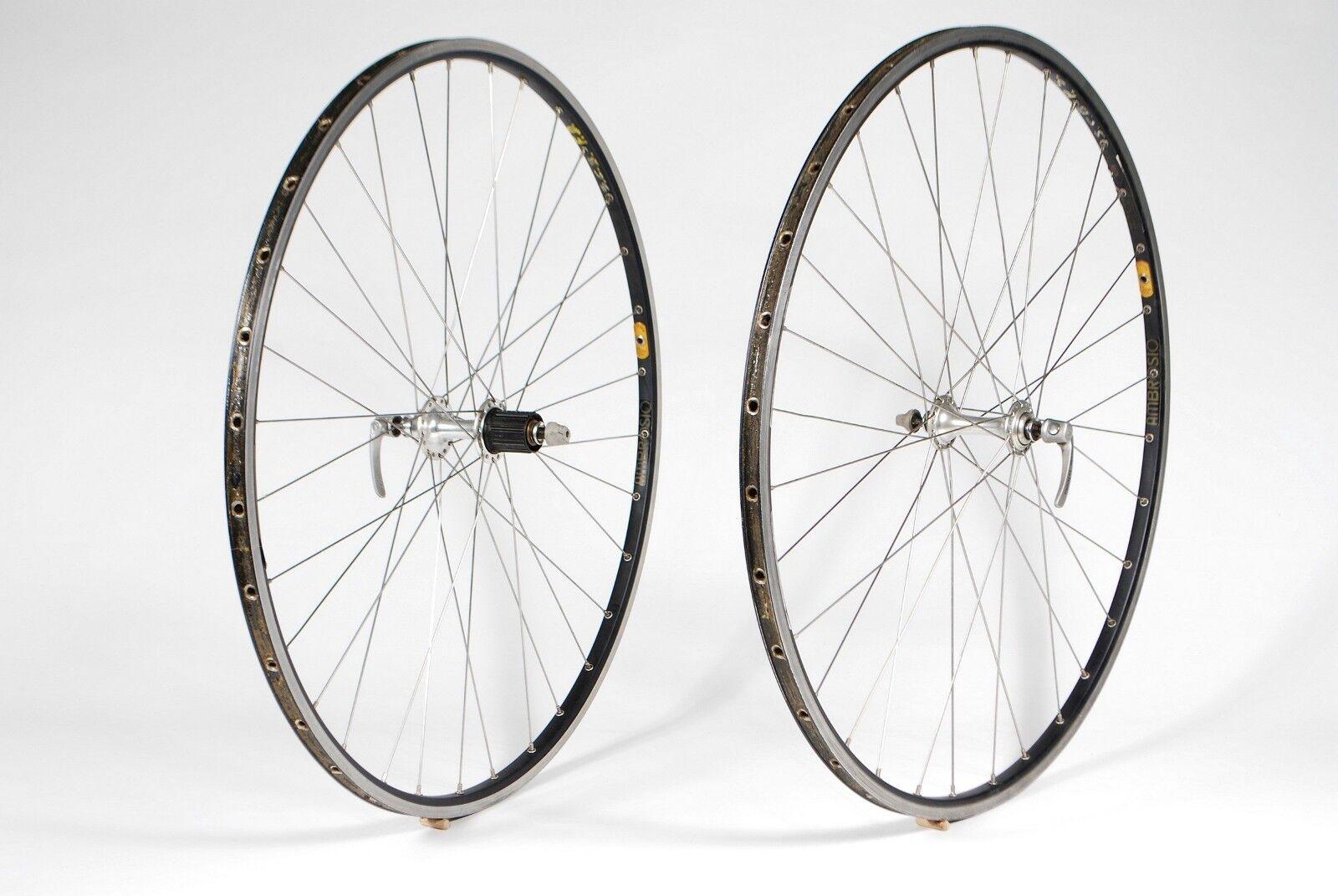 Ambrosio Excellence Bicycle Tubular Wheelset Shimano Ultegra 6500 Hubs 8-9 Speed