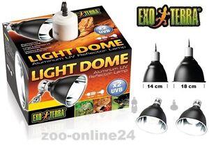 exo terra light dome uv reflektor lampe terrarium spot strahler h nge leuchte ebay. Black Bedroom Furniture Sets. Home Design Ideas